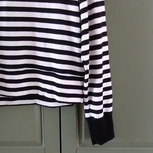 Anthropologie Tops - Nally & Millie black & white striped crop top M